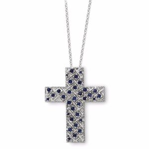 Sterling Silver Cross 18in Necklace